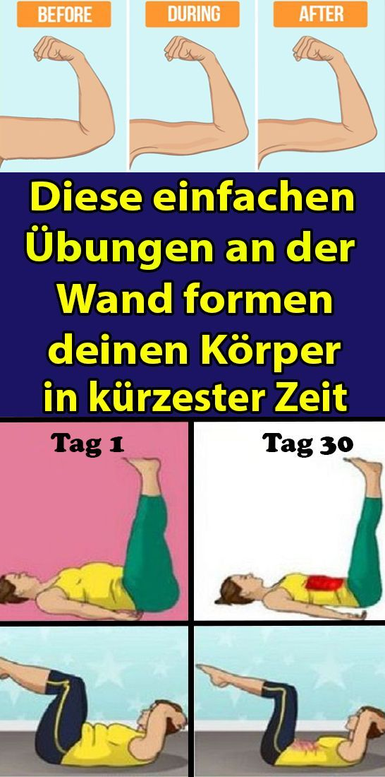 These simple exercises on the wall shape your body in no time  - Gesundheit und fitness -   #body #e...