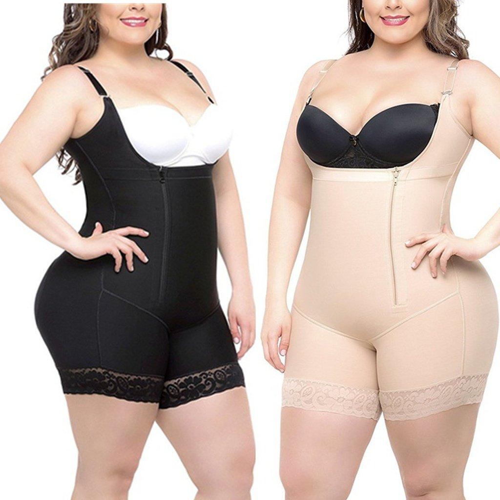 c4aef9431 S-6XL Woman Slim Underbust Underwear Bodysuit Waist Training Tights  Shapewear Body Shapers Lingerie Plus Size