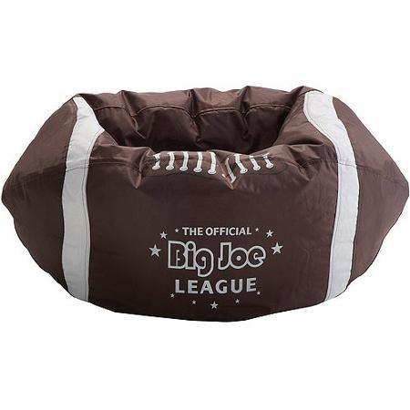 Big Joe Football Bean Bag Walmart Com Football Bean Bag Kids Bean Bags Bean Bag Lounger