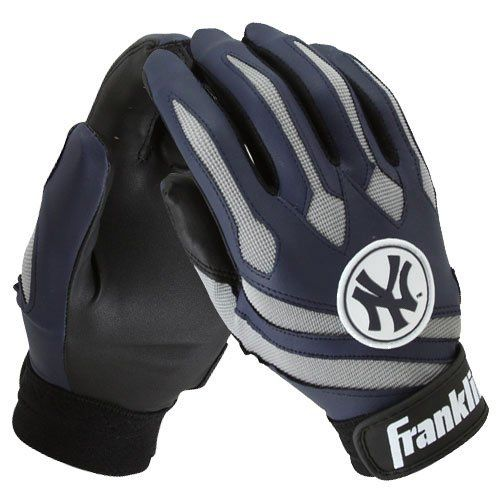 Franklin New York Yankees Team Youth Batting Gloves Large By
