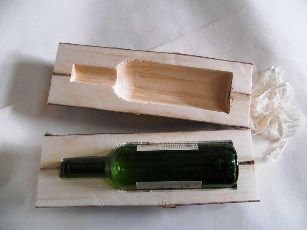 caja tronco botella de vino