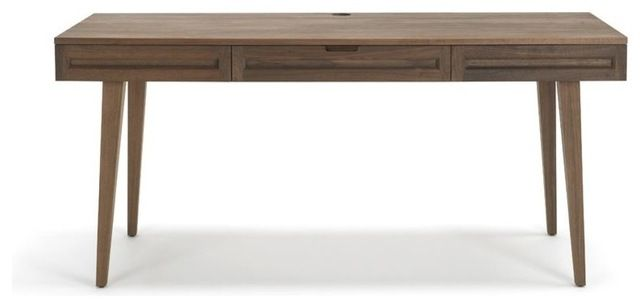 Jesper Highland Collection Solid Wood 64 Desk W Legs Walnut Modern Desks