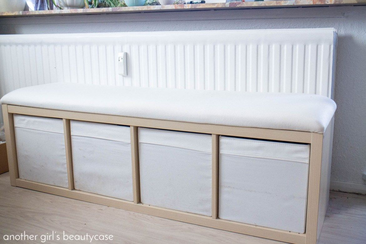 Flurbank Ikea Ikea-hack - Sitzbank Aus Kallax-regal - Another Girl's Beautycase | Kallax Regal, Kinderzimmer Speicher, Ikea Diy