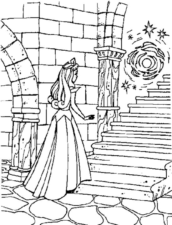 Sleeping Beauty Spinning Wheel Coloring Pages Printable Drawing - new disney princess coloring pages sleeping beauty