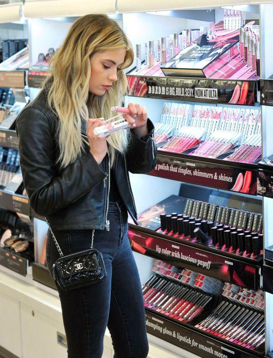 Ashley Benson Fashion Style   March 21  2016   Buxom Cosmetics at Ulta  Beauty in. Ashley Benson Fashion Style   March 21  2016   Buxom Cosmetics at