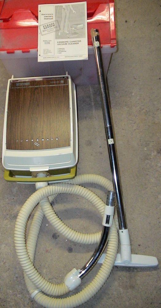 Vintage Sears Kenmore Powermate Vacuum Model 116 2799 3 2