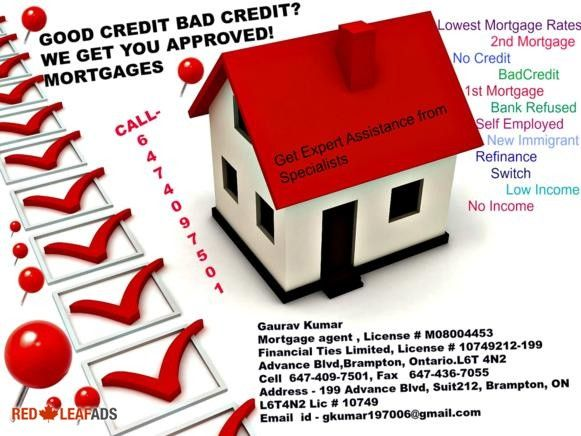 Bad Credit//Debt Consolidation //Bank Say No//LET ME HELP YOU... Bank Say No? Bad Credit, No Credit, Hard to get The Mortgage? Let me help you !!! Financing still available, ...