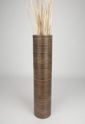 Tall Floor Vase 36 Inches Wood Brown Read More Reviews Of The Product By Visiting Link On Image