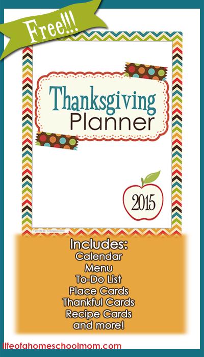 Free 2015 Thanksgiving Planner for Moms