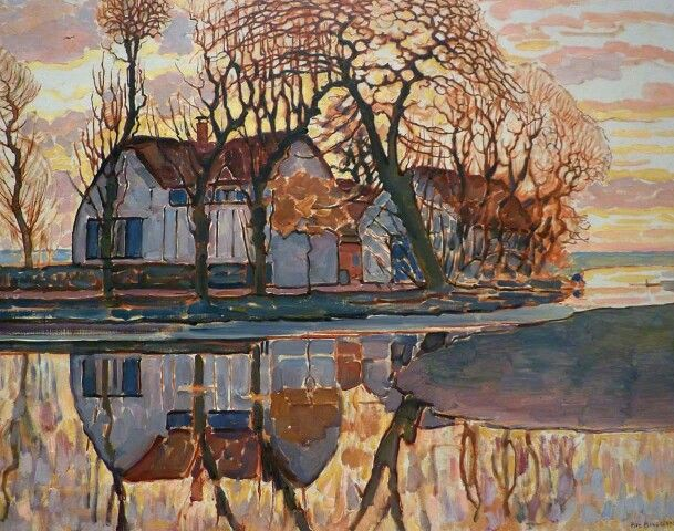 Piet Mondrian.  Fattoria a Duivendrecht. 1907. Chicago. The Art Institute.