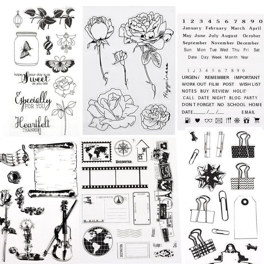 0 99 1pc Clear Acrylic Stamping Alphabet Silicone Rubber Sheet Cling Scrapbooking Diy Ebay Home Garden Diy Scrapbook Scrapbook Stamp