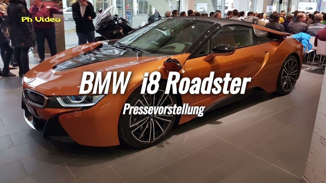 Bmw I8 Roadster 275 Kw 374 Ps Pressevorstellung Hybrid