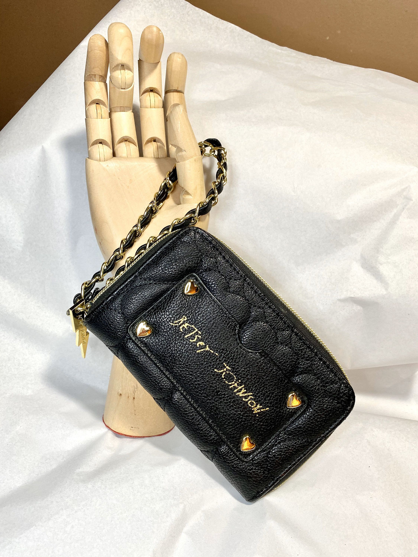 Black Heart Wallet Betsey Johnson Gold Heart Credit Card