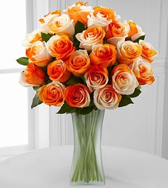 Orange Dreamsicle Rainbow Rose Bouquet