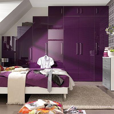 5 Plus Purple High Gloss Wardrobe Welle Mobel 5 Plus High Gloss Chiraz Insua Timba Spectrum 5 Purple Bedrooms Purple Bedroom Decor Purple Bedroom Design