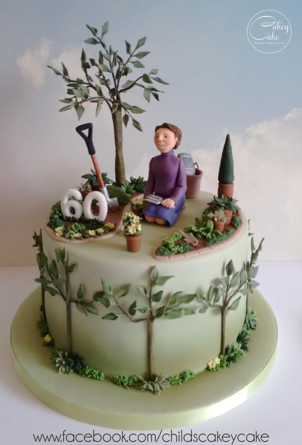 How Does Your Garden Grow By Cakeycake 60th Birthday Cakes Garden Cakes Artist Cake