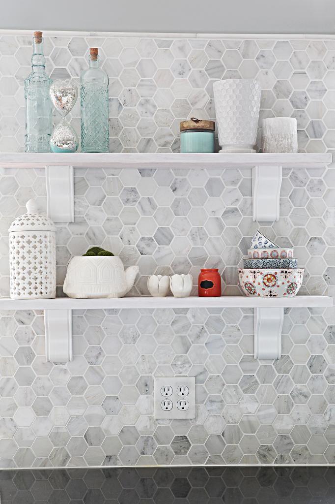 Washing It White Bower Power Hexagon Tile Kitchen Easy Backsplash Hexagon Tile Backsplash