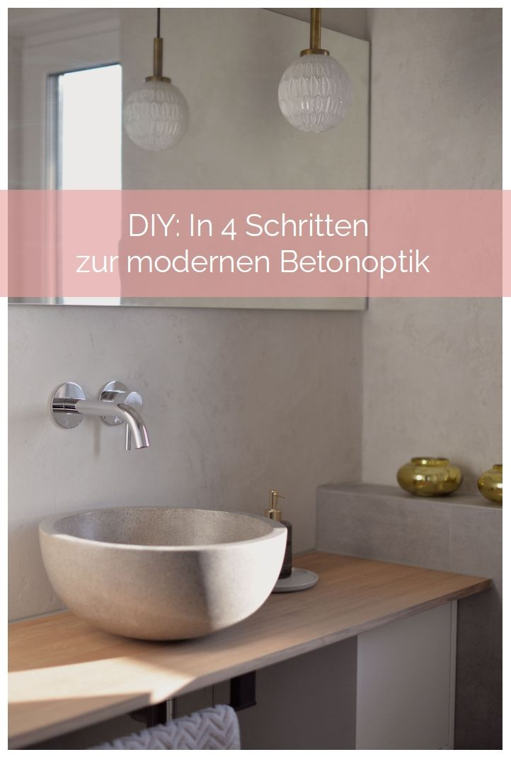 do it yourself anleitung in 4 schritten zur modernen betonoptik in 2018 diy pinterest. Black Bedroom Furniture Sets. Home Design Ideas