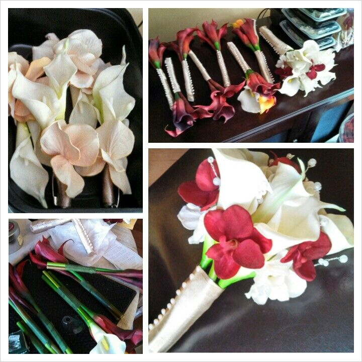 DIY Wedding Bouquets: Calla Lilies And Orchids Bouquet For