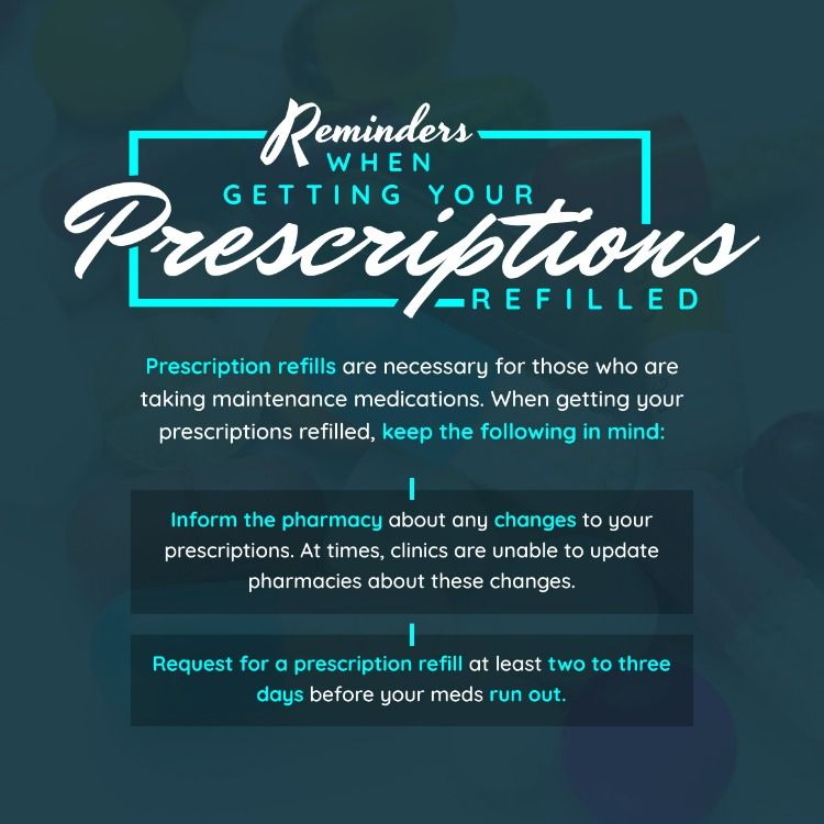 Reminders When Getting Your Prescriptions Refilled