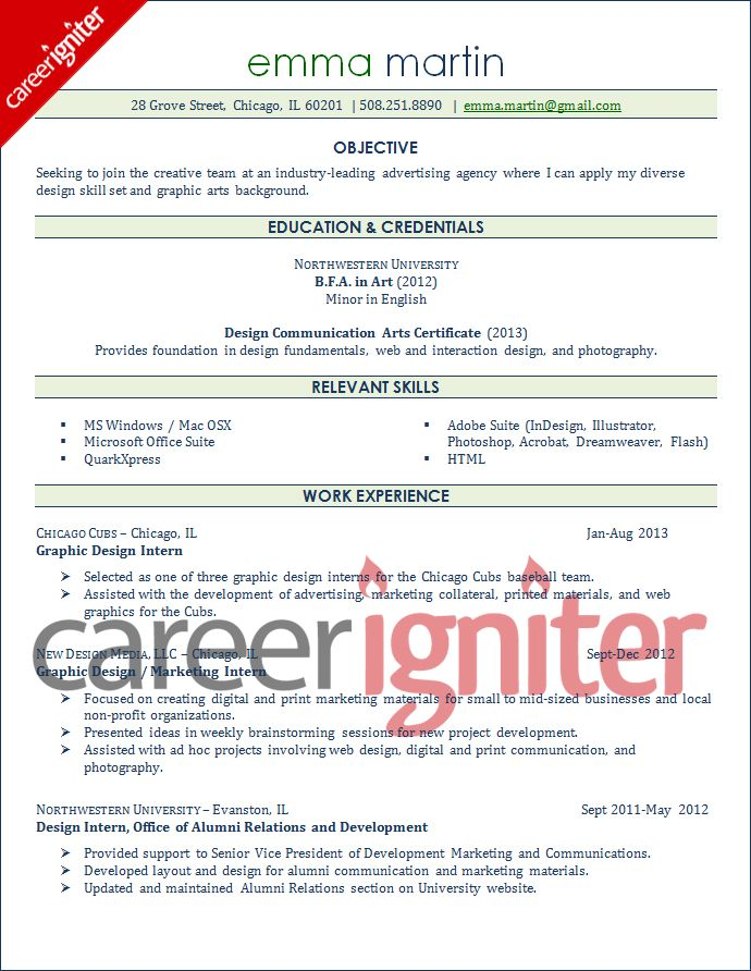 Graphic Designer Resume Sample Resume Resume objective sample