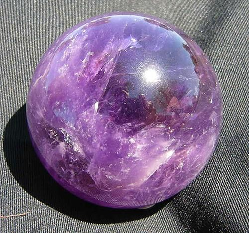 Amethyst sphere, from Brazil. $150
