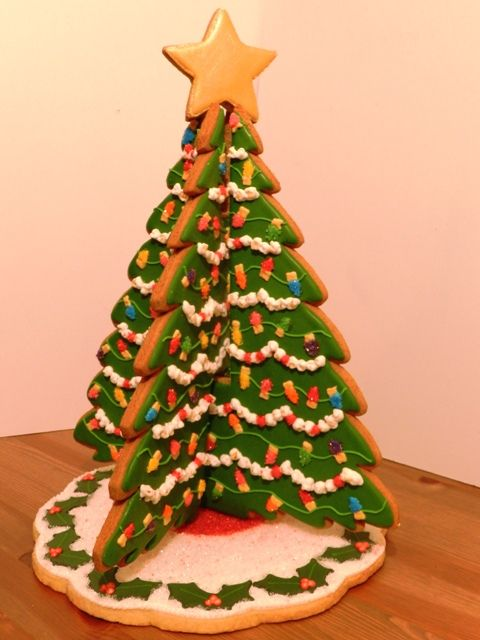 3d Christmas Tree Cookie Cookie Inspiration Christmas Cookies