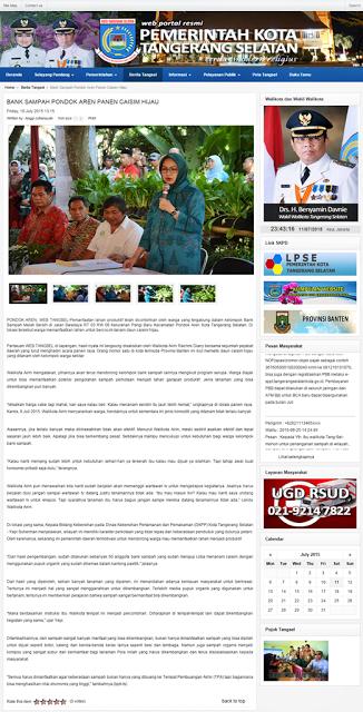 Liputan Media Gerakan Gemar Menanam Urban Farming Menanam Media Pemerintah