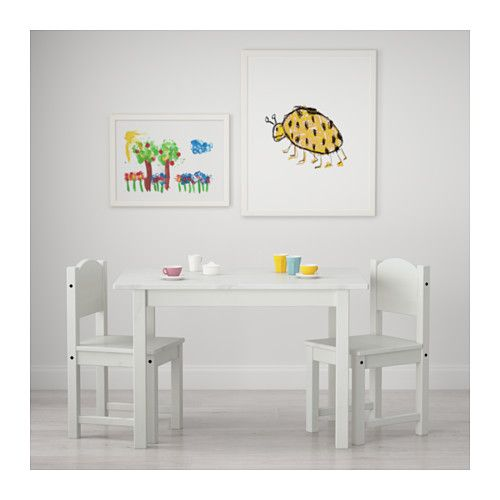 SUNDVIK Mesa para niños blanco | Decoración | Silla para