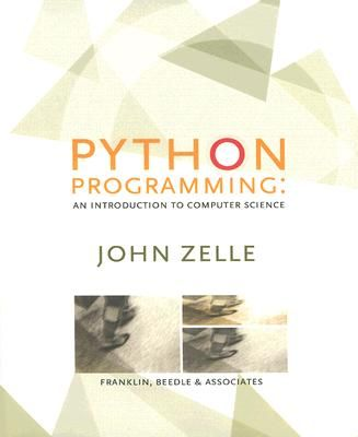 Python programming : an introduction to computer science / John M. Zelle. (2004). Máis información: https://fbeedle.com/content/python-programming-introduction-computer-science%E2%80%942nd-edition
