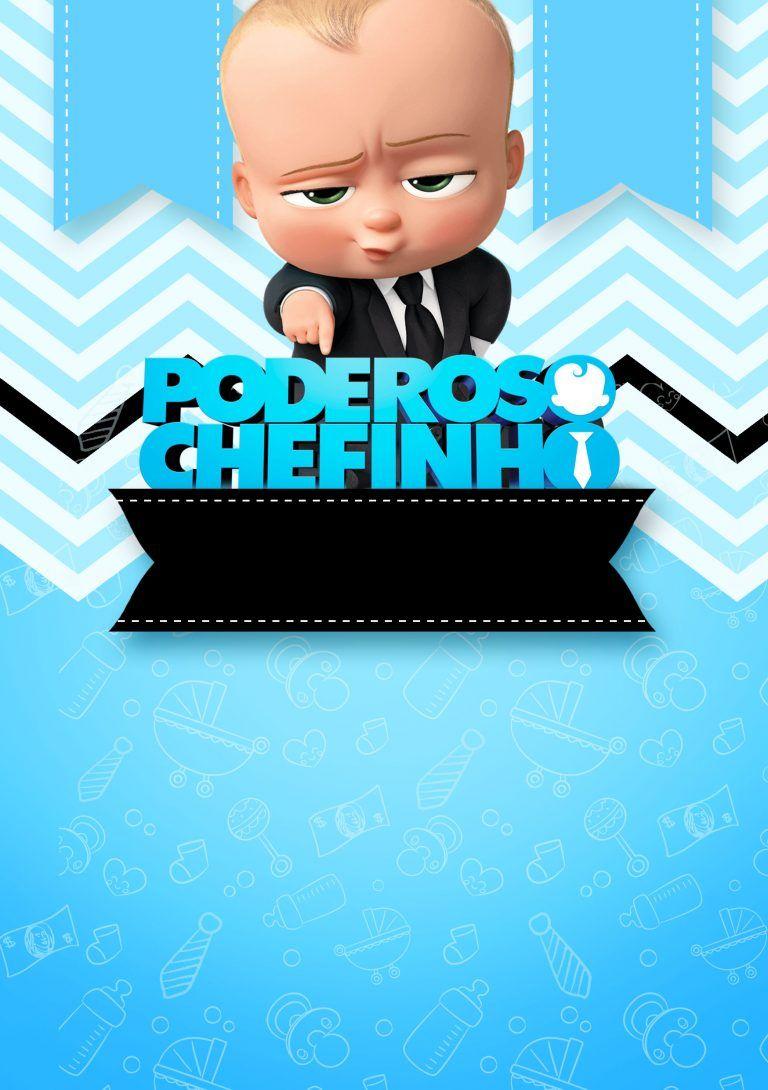 Convite Poderoso Chefinho 1st Boy Birthday Boss Baby Boss Birthday