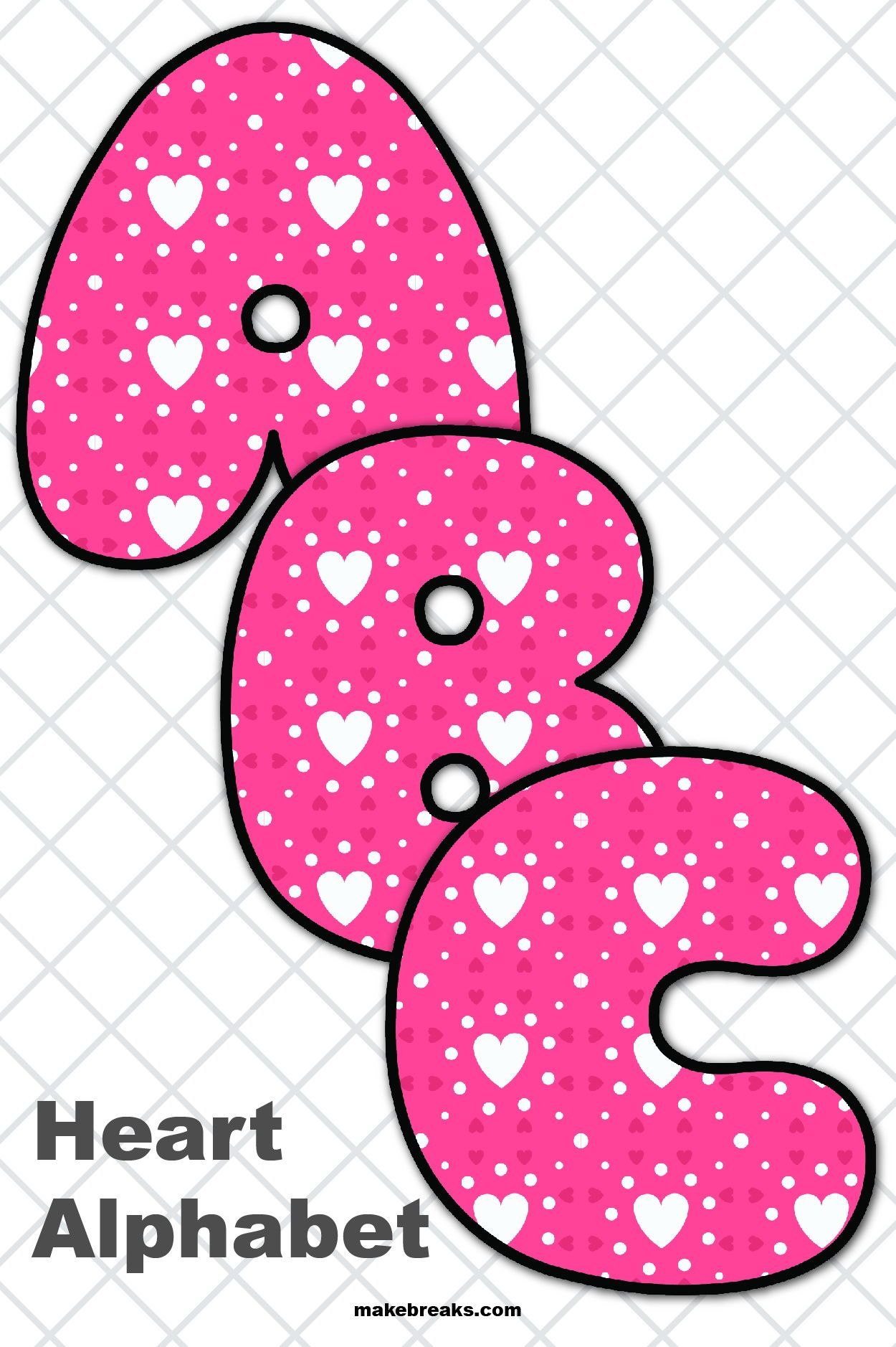 Free Printable Alphabet For Valentine S Day Pattern 2