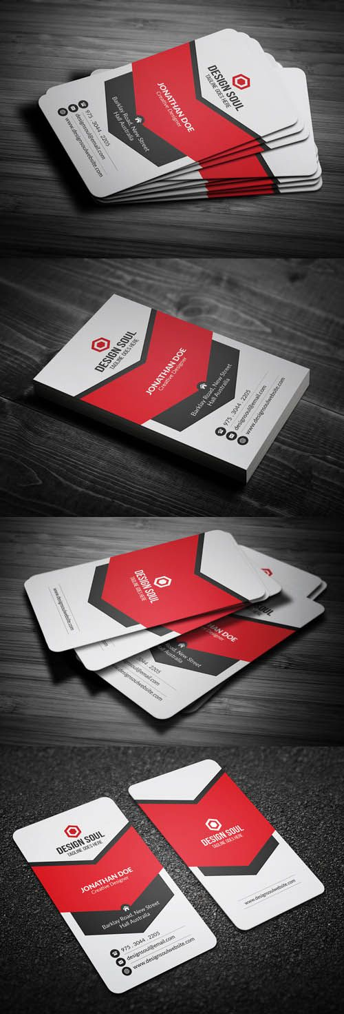 Modern corporate business card psd pinterest modern corporate business card psd round square corner possible reheart Choice Image
