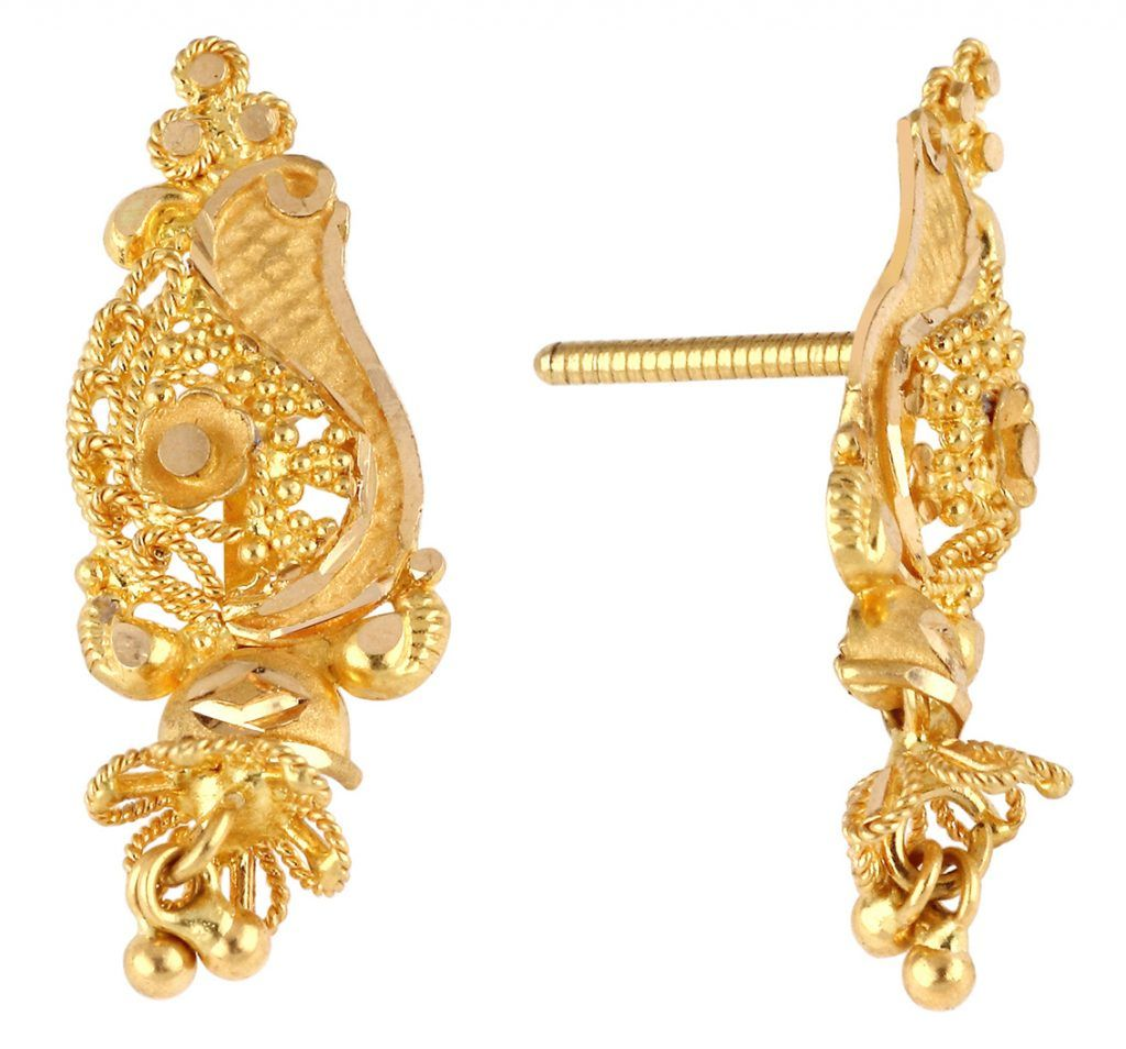 20 Marvel Gold Earring Designs 2017 Fashion Sensation