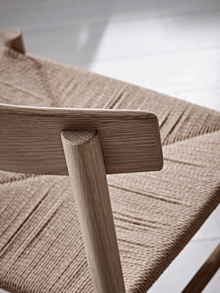 Two Oak And Jute Chairs