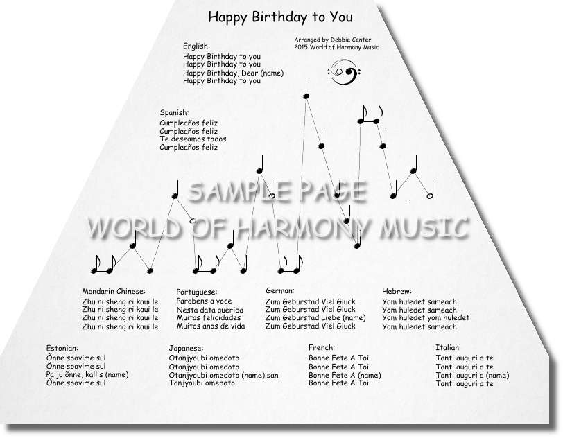Happy Birthday Sample Pages 01 Harmony music, Music
