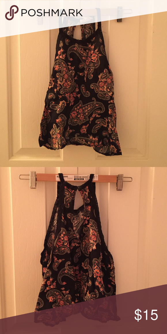 """Patterned Tank from Pacsun An """"L.A.Hearts"""" original tank. Purchased from the store Pacsun. Barely worn, great quality. A black tank with hints of red and orange. Beautiful pattern. PacSun Tops Blouses"""