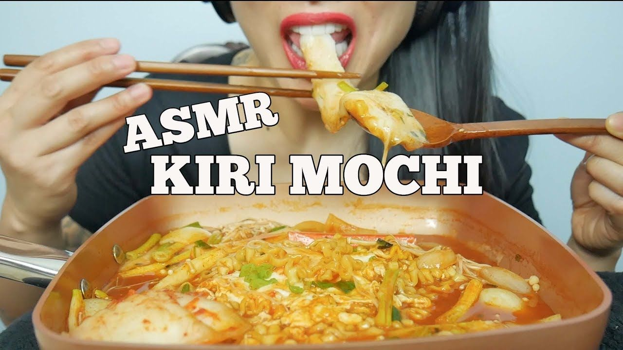 Asmr Kiri Mochi Fire Noodle Stew Type Extreme Slurping Eating Sounds Eat Mochi Recipe Food Everyone has a different asmr triggers. pinterest