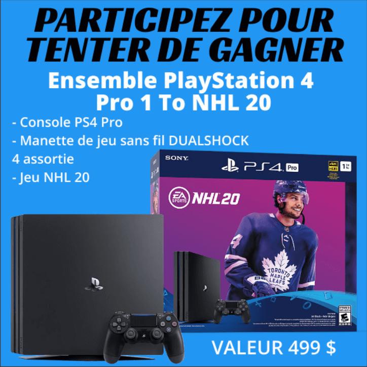 Gagnez Un Ensemble Playstation 4 Pro 1 To Nhl 20 Playstation Nhl Manette De Jeu