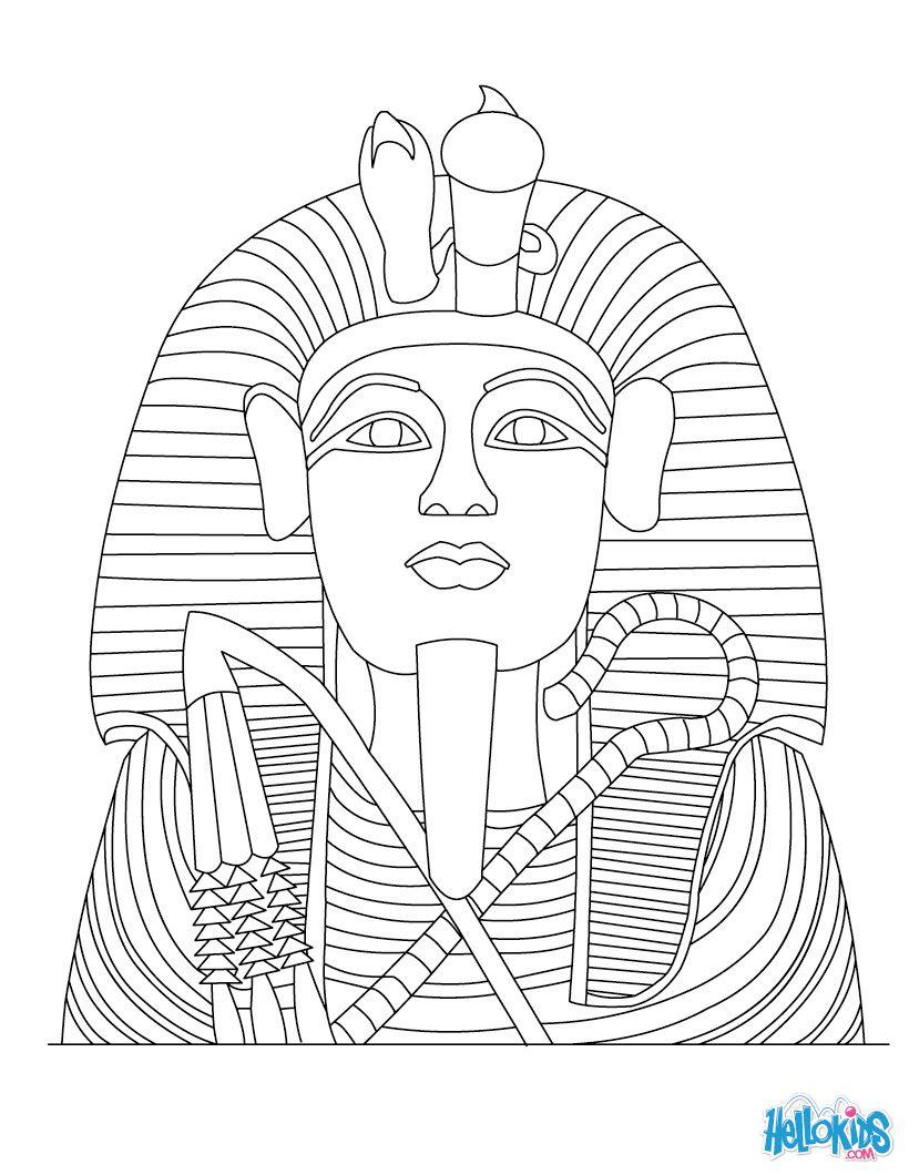pharaoh coloring pages tutankhamun statue   Dragon ...