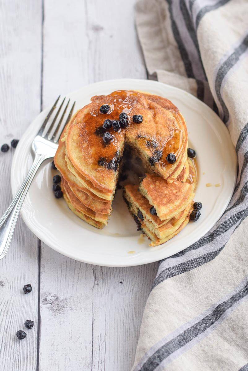 Paleo Blueberry Pancakes Recipe Food Blueberry Pancakes
