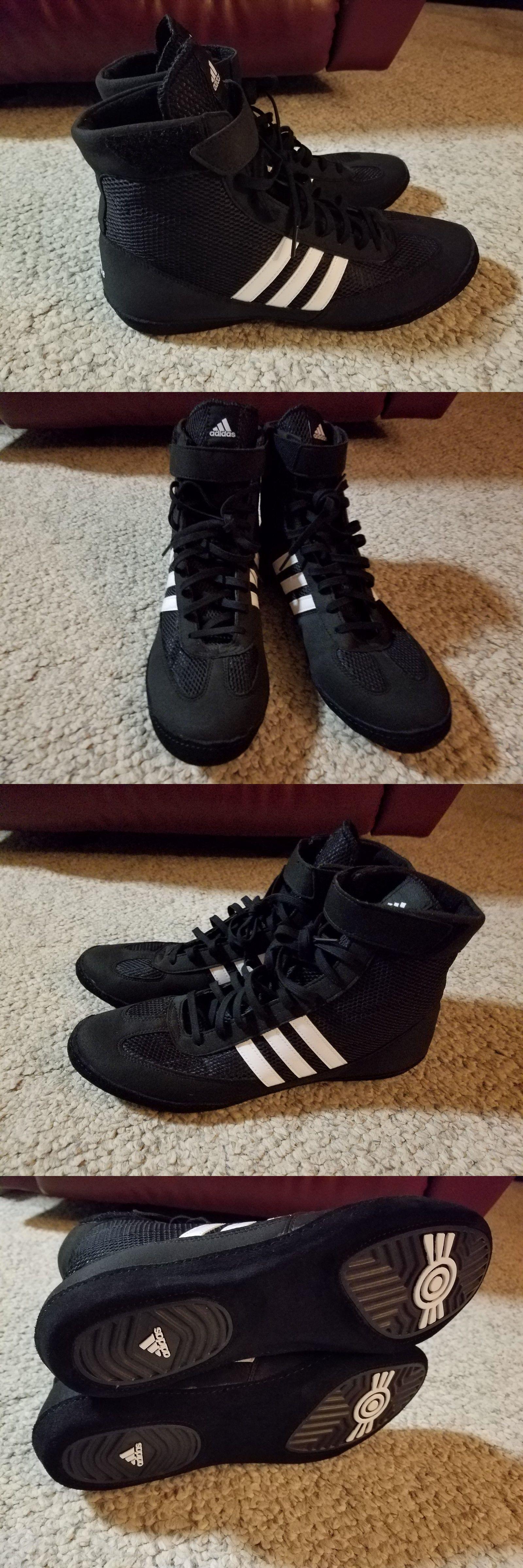 Calzature 79799: adidas combattere velocità wrestling scarpe nero / bianco)