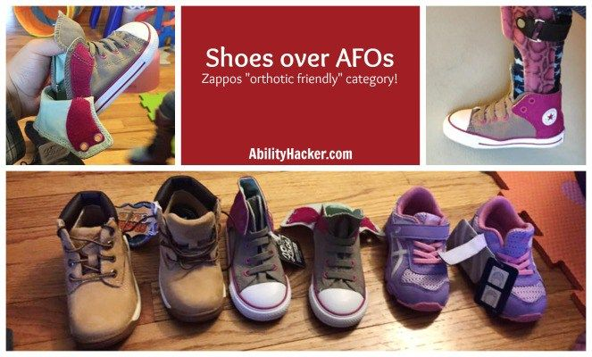 Zappos shoes for over AFOs