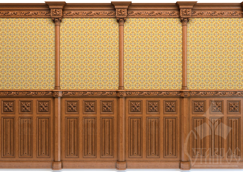Буазери в готическом стиле | старое дерево | Pinterest | Woodcarving ...