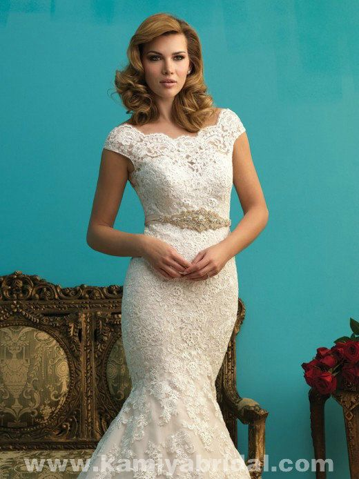 Only - $333.00 Allure 9271 Lace Sash best bridal gown [Allure-9271] Allure…
