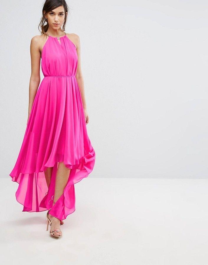 Ted Baker Harpah High Low Dress With Folded Neckline | Ted Baker ...