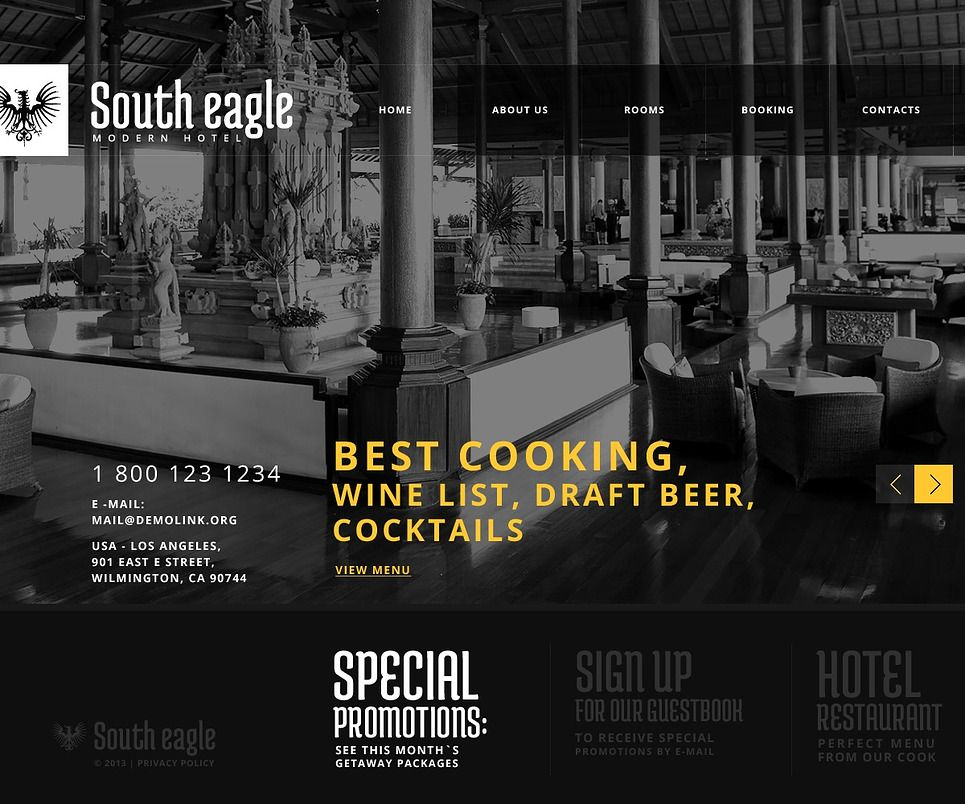 South Eagle Website Templates by Glenn | Hotel, Event Booking ...