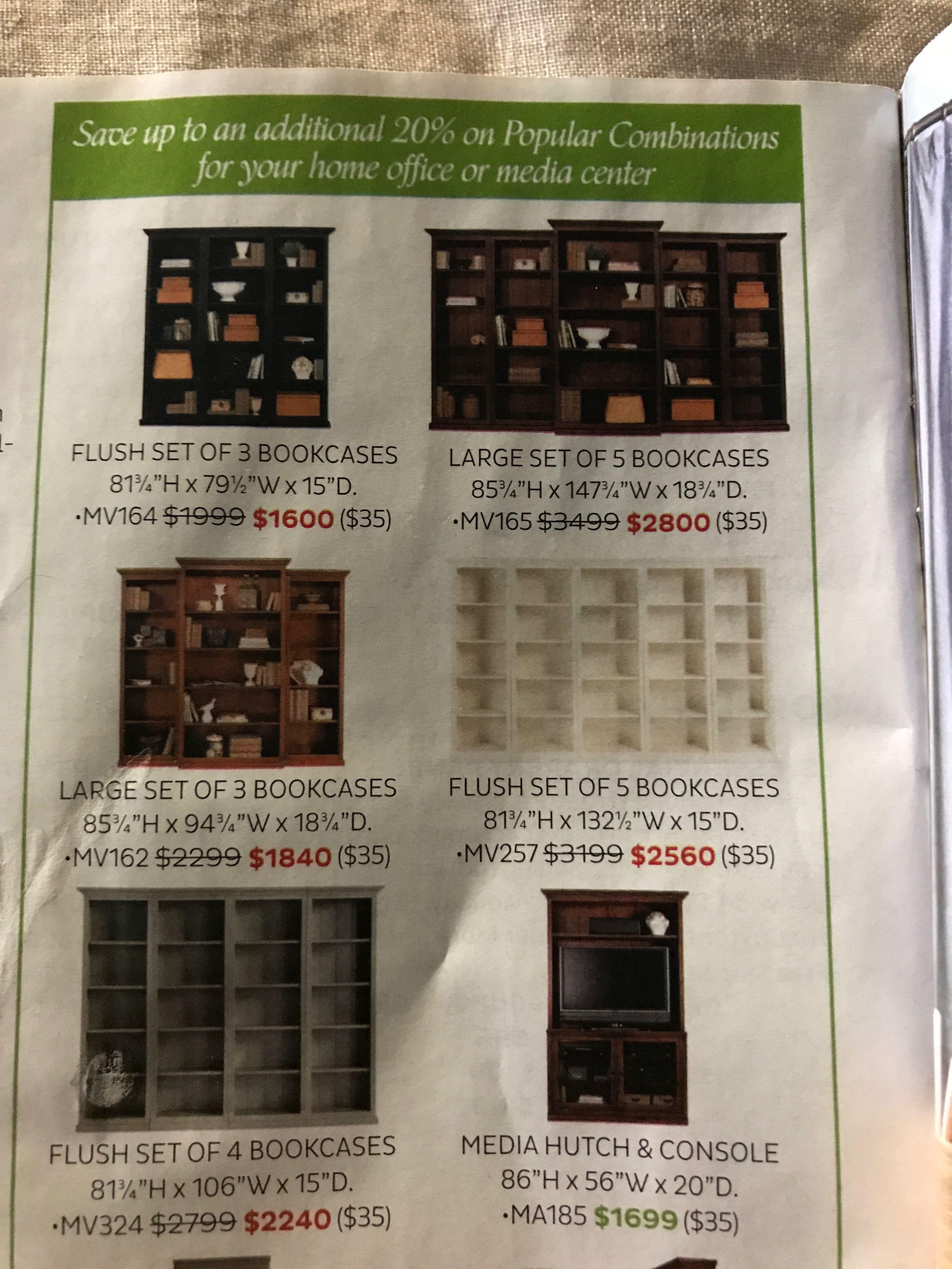 Ballard Designs R/L book cases for dinning room