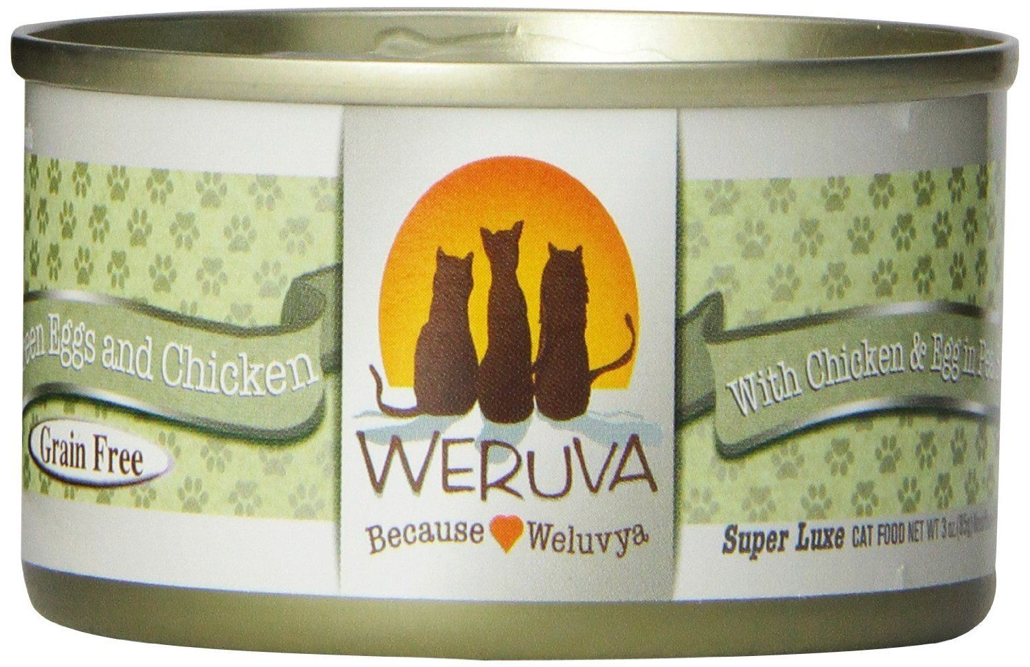 Weruva Canned Cat Green Eggs and Chicken Cat Food (24 Pack