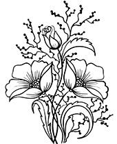Darmowe Kolorowanki Kwiaty Do Wydruku Flower Drawing Flower Line Drawings Line Flower